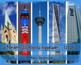 Nordens 10 högsta byggnader (2019)